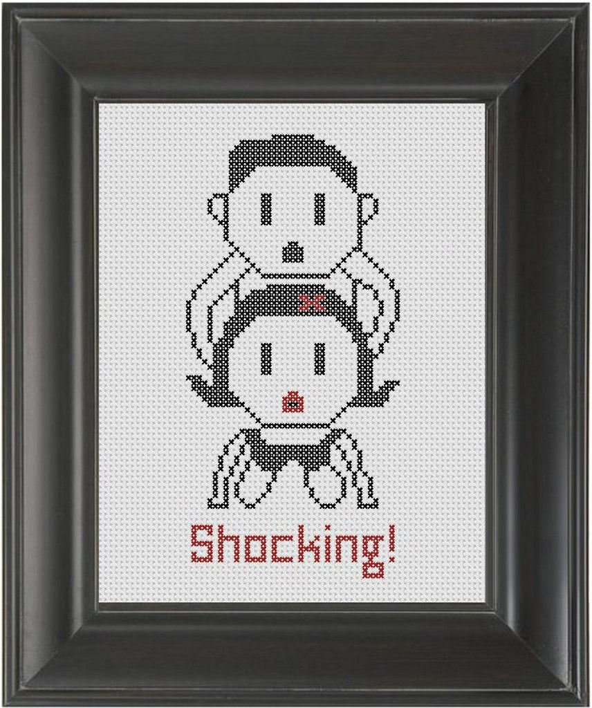 Outlet Shocking - Cross Stitch Pattern Chart