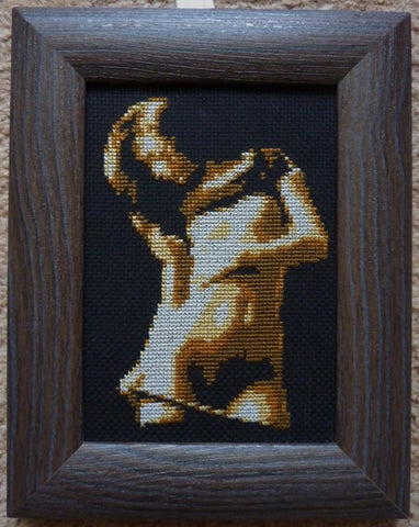 Brown and Down - Cross Stitch Pattern Chart Erotic Nude Sexy NSFW