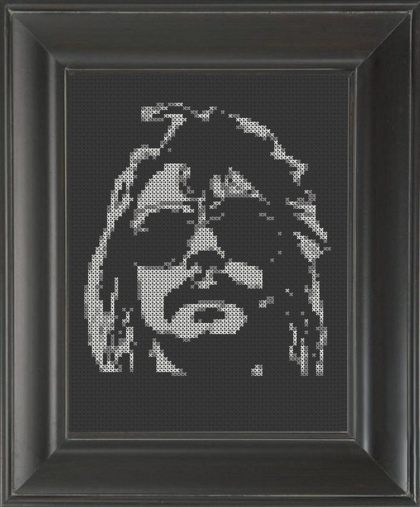 Philthy Animal Taylor on Black - Cross Stitch Pattern Chart