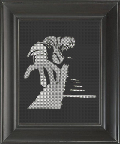 Piano High Notes - Cross Stitch Pattern Chart