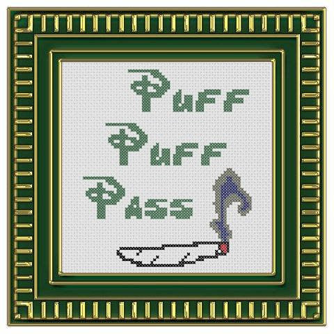 Puff Puff Pass - Cross Stitch Pattern Chart