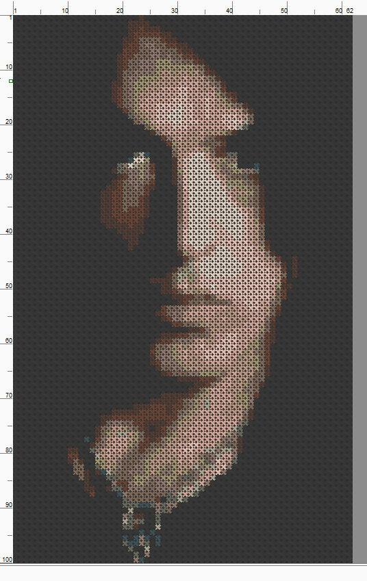 Paul Stanley - Cross Stitch Pattern Chart