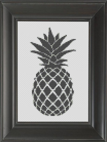 Pineapple BW - Cross Stitch Pattern Chart