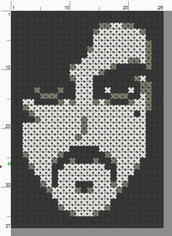 Prince Threezle - Cross Stitch Pattern Chart