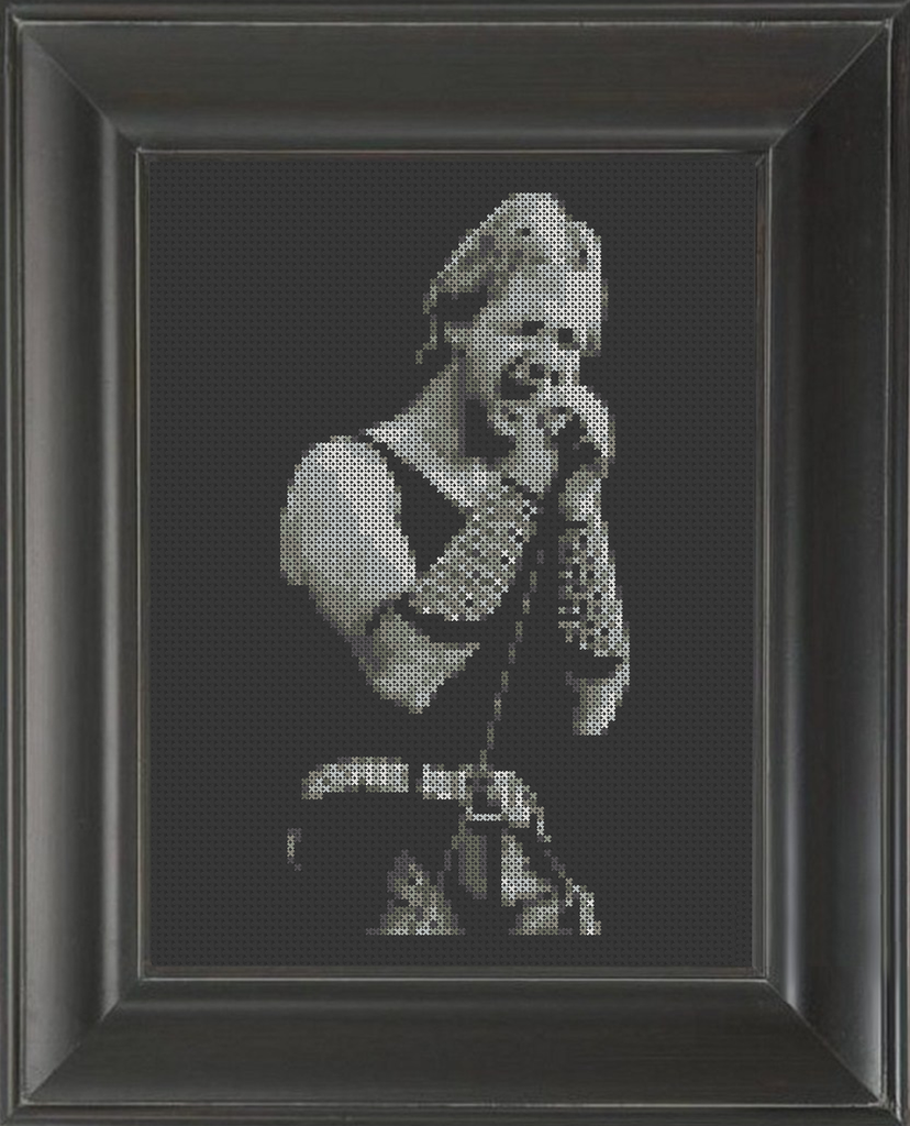 Rob Halford - Cross Stitch Pattern Chart