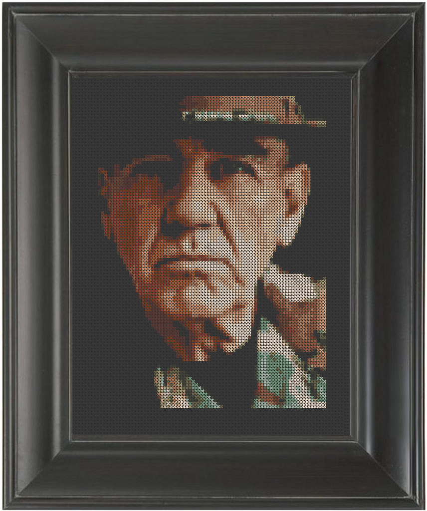 R. Lee Ermey - Cross Stitch Pattern Chart