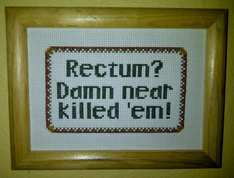 Rectum? - Cross Stitch Pattern Chart
