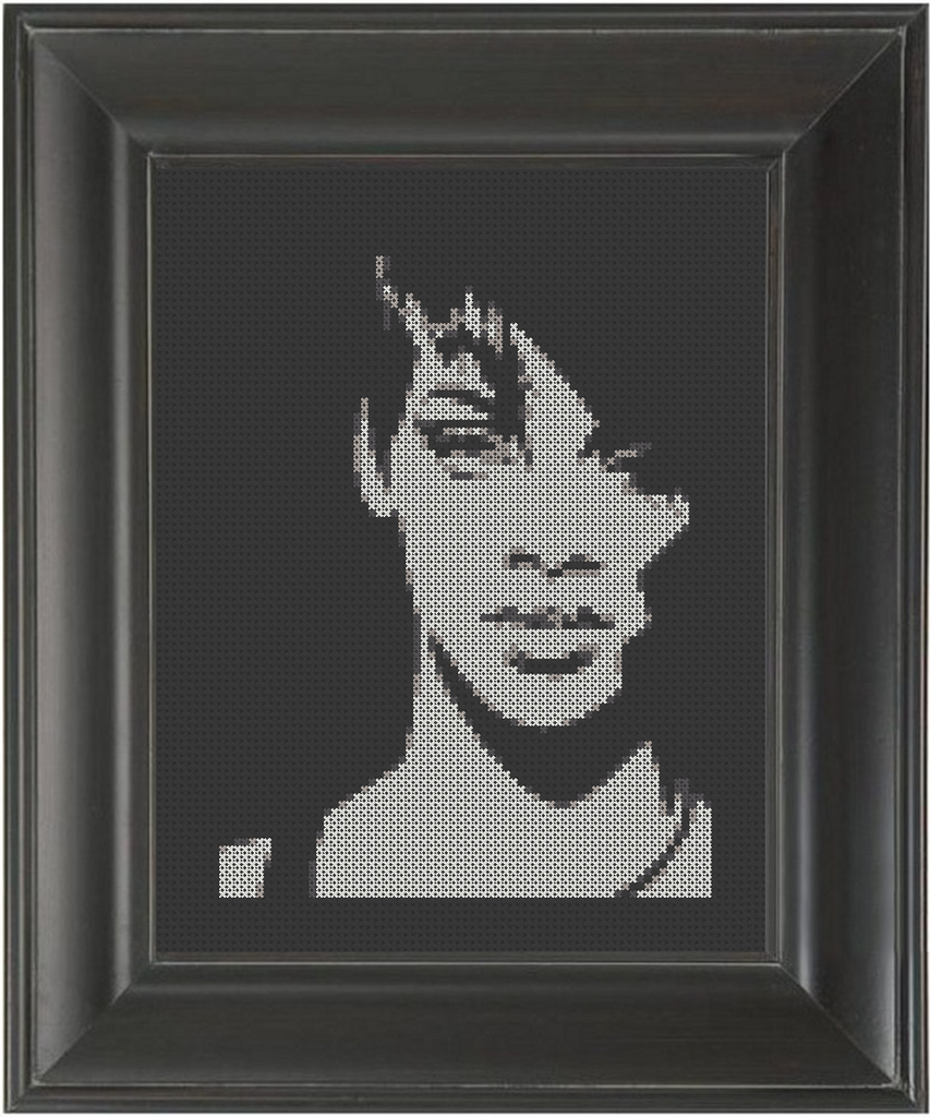 Rihanna BW - Cross Stitch Pattern Chart
