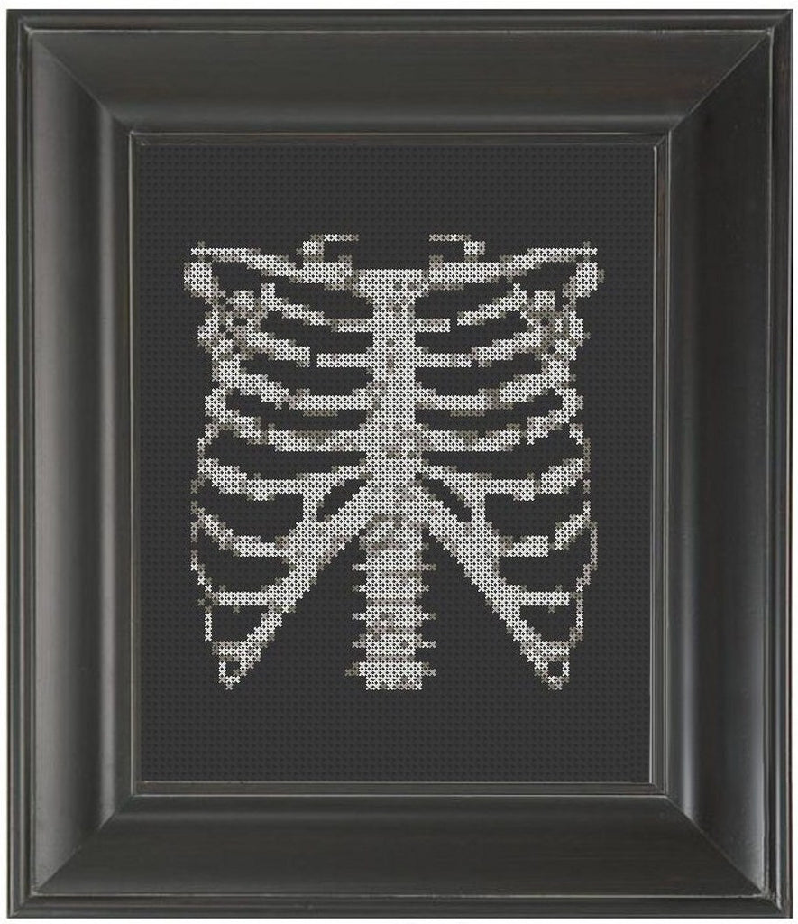 Rib Cage - Cross Stitch Pattern Chart