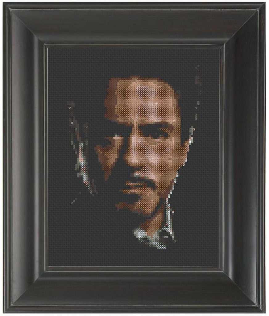 Robert Downey Jr. - Cross Stitch Pattern Chart Iron Man