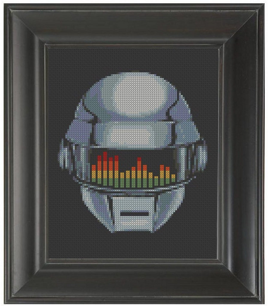 Robot Stereo - Cross Stitch Pattern Chart