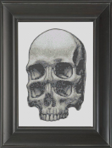 Skull Four Eyes - Cross Stitch Pattern Chart