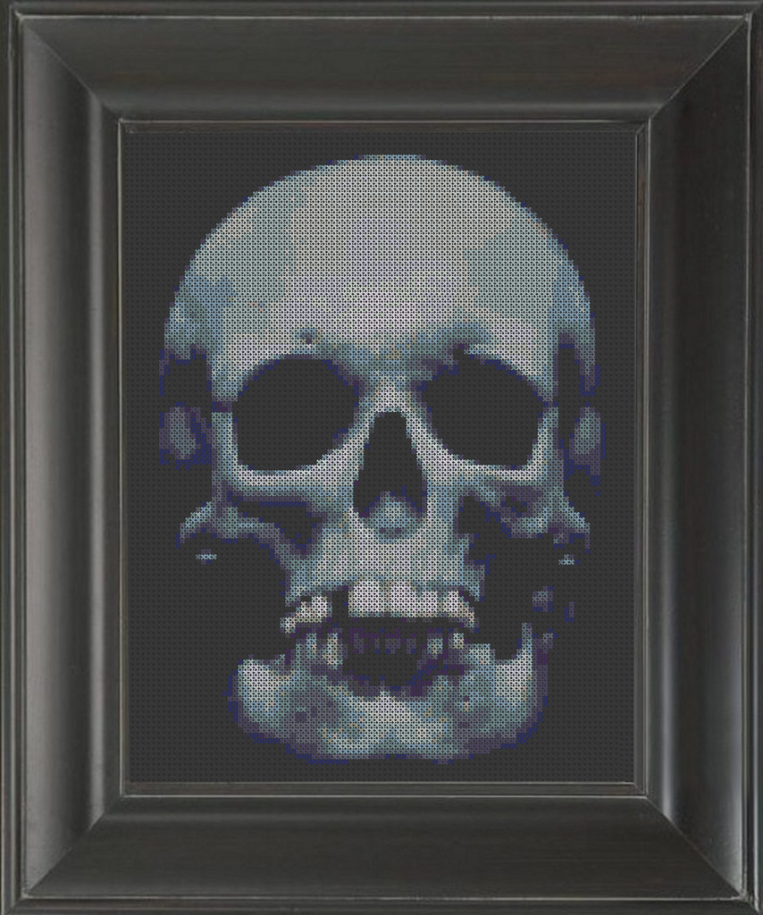 Skull Blues - Cross Stitch Pattern Chart