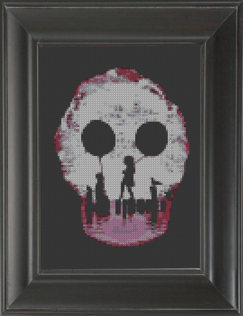 Skeleton Balloons - Cross Stitch Pattern Chart