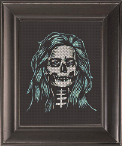 Skeleton - Day of the Dead - Cross Stitch Pattern Chart
