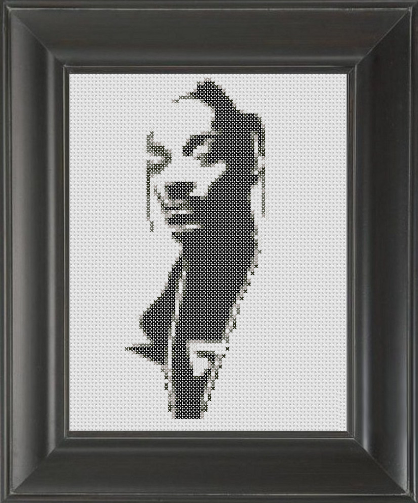 Snoop Dog BW - Cross Stitch Pattern Chart
