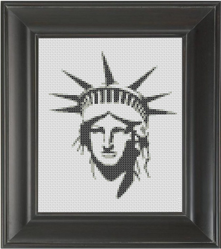 Statue of Liberty BW - Cross Stitch Pattern Chart