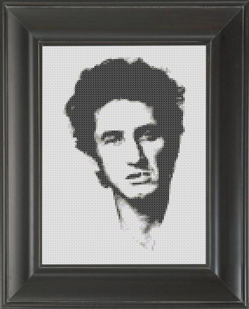 Sean Penn BW - Cross Stitch Pattern Chart