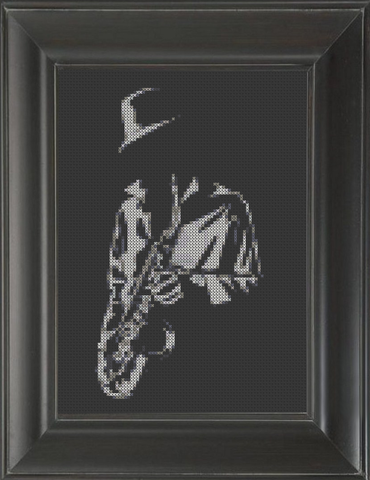 Saxophone Player - Cross Stitch Pattern Chart