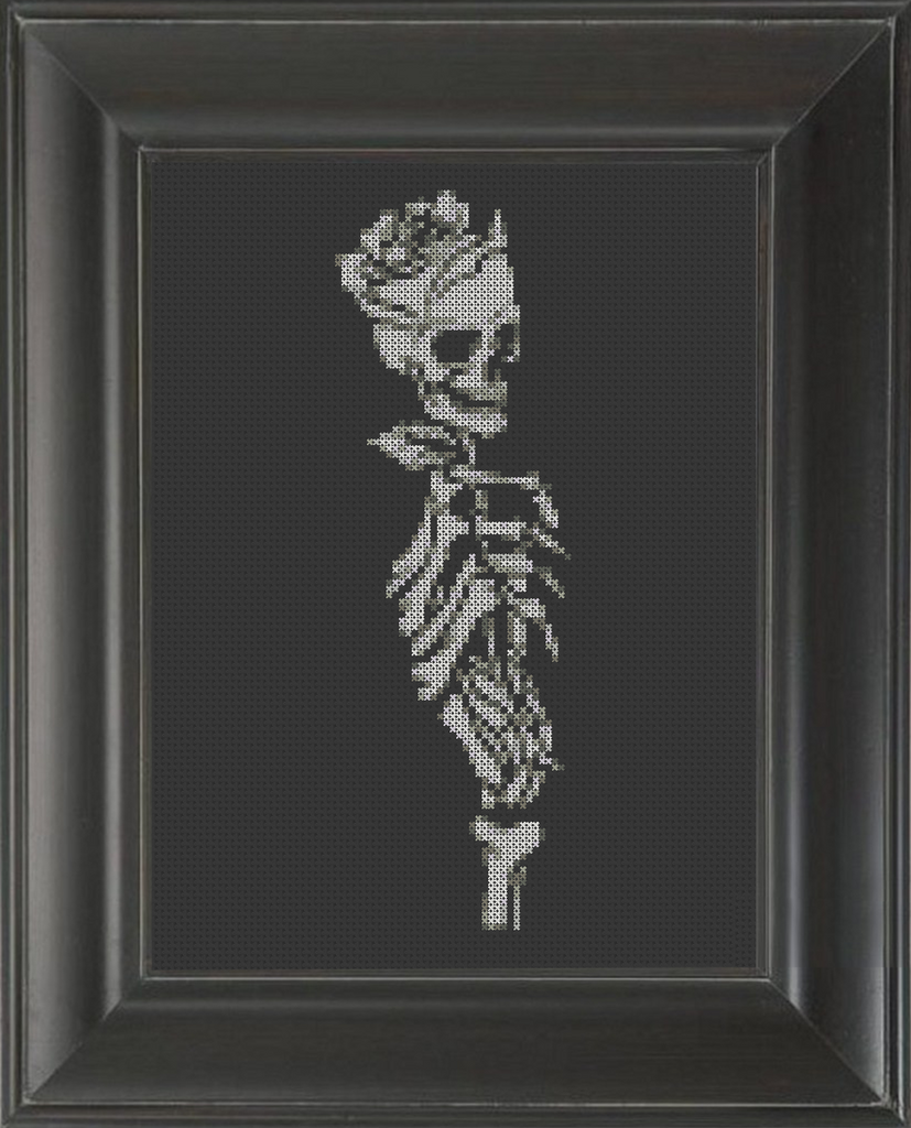 Skeleton Rose - Cross Stitch Pattern Chart