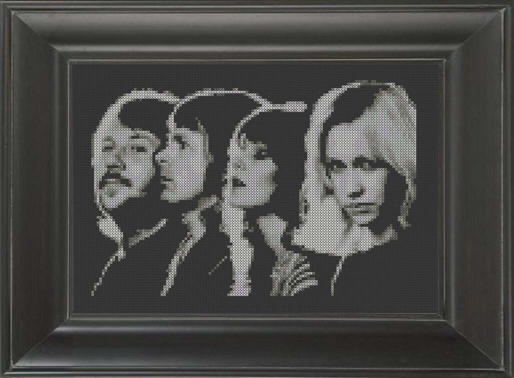ABBA BW 01 - Cross Stitch Pattern Chart