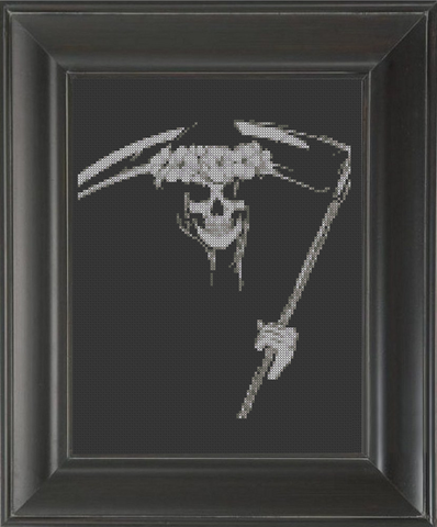 Skeleton Sickle - Cross Stitch Pattern Chart