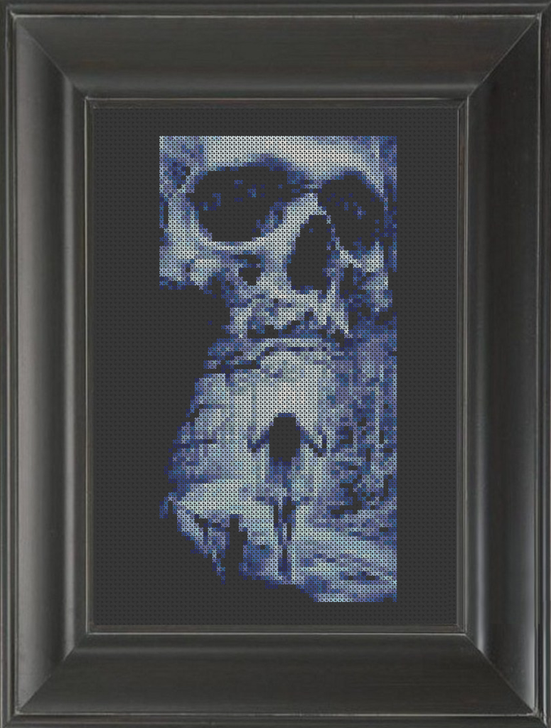 Skeleton Swing - Cross Stitch Pattern Chart