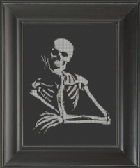 Skeleton Thinker - Cross Stitch Pattern Chart