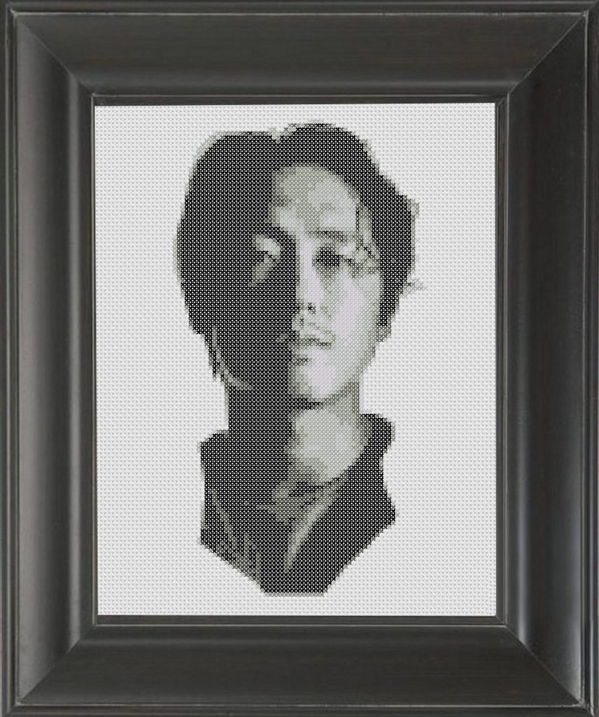 Steven Yeun - Cross Stitch Pattern Chart