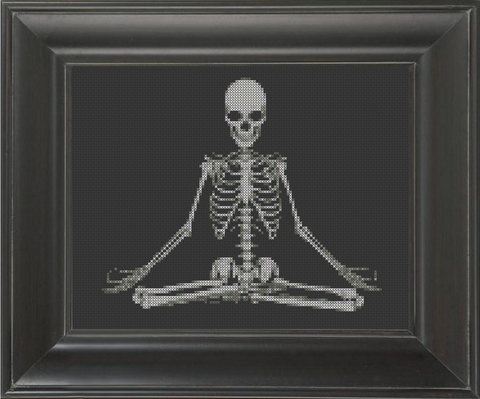 Skeleton Yoga - Cross Stitch Pattern Chart