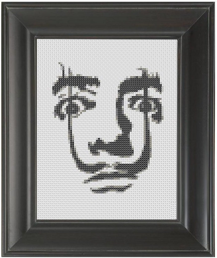 Salvador Dali - Cross Stitch Pattern Chart