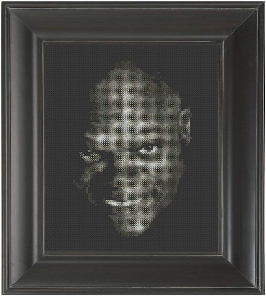 Samuel L. Jackson - Cross Stitch Pattern Chart