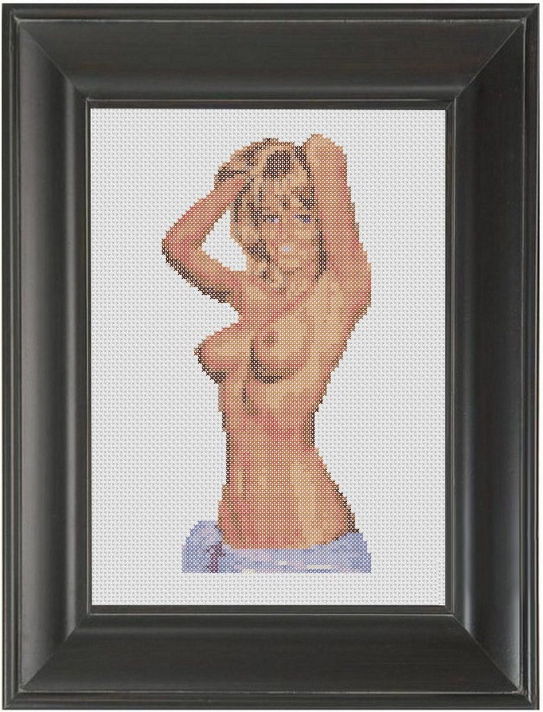 Sarong - Cross Stitch Pattern Chart Erotic Nude Sexy NSFW