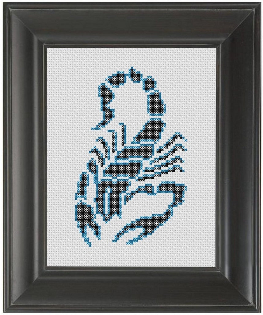 Tribal Scorpion - Cross Stitch Pattern Chart