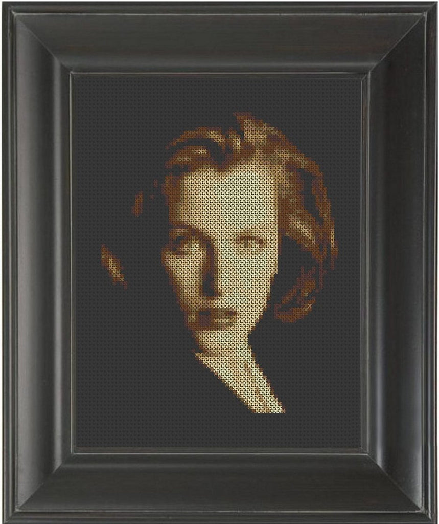Gillian Anderson - Cross Stitch Pattern Chart