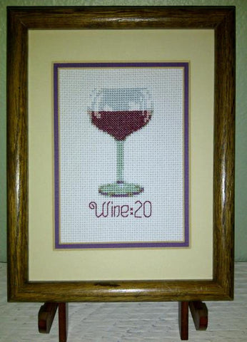 Wine:20 - Cross Stitch Pattern Chart Wine