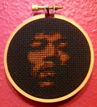 Jimi Hendrix Threezle - Cross Stitch Pattern Chart
