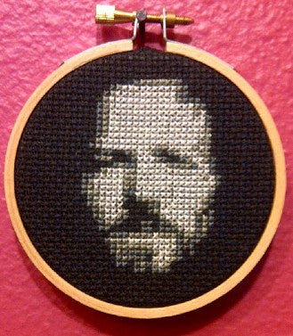 Eddie Vedder Threezle - Cross Stitch Pattern Chart