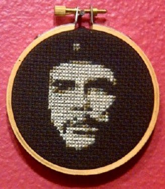 Che Guevara Threezle - Cross Stitch Pattern Chart