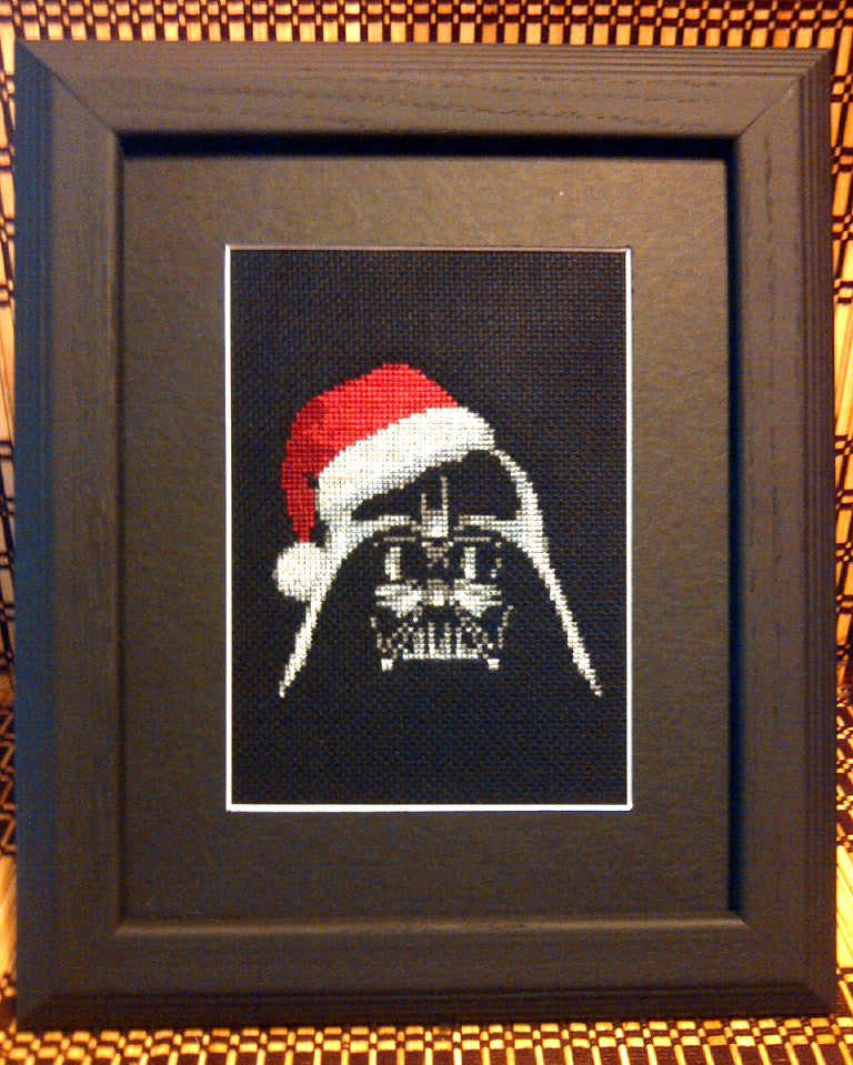 Darth Xmas - Cross Stitch Pattern Chart - FEATURED