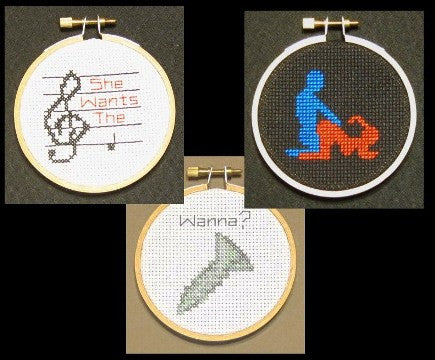 Sex #1 Threezle Set - Cross Stitch Pattern Chart