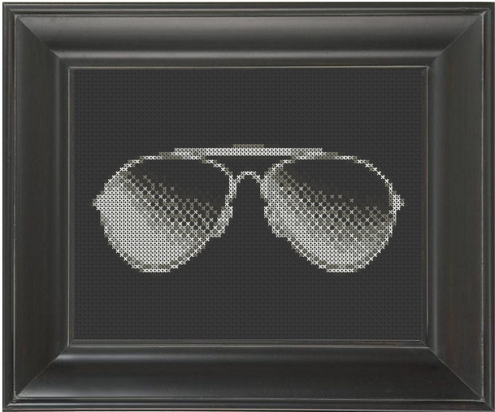 Shades - Cross Stitch Pattern Chart