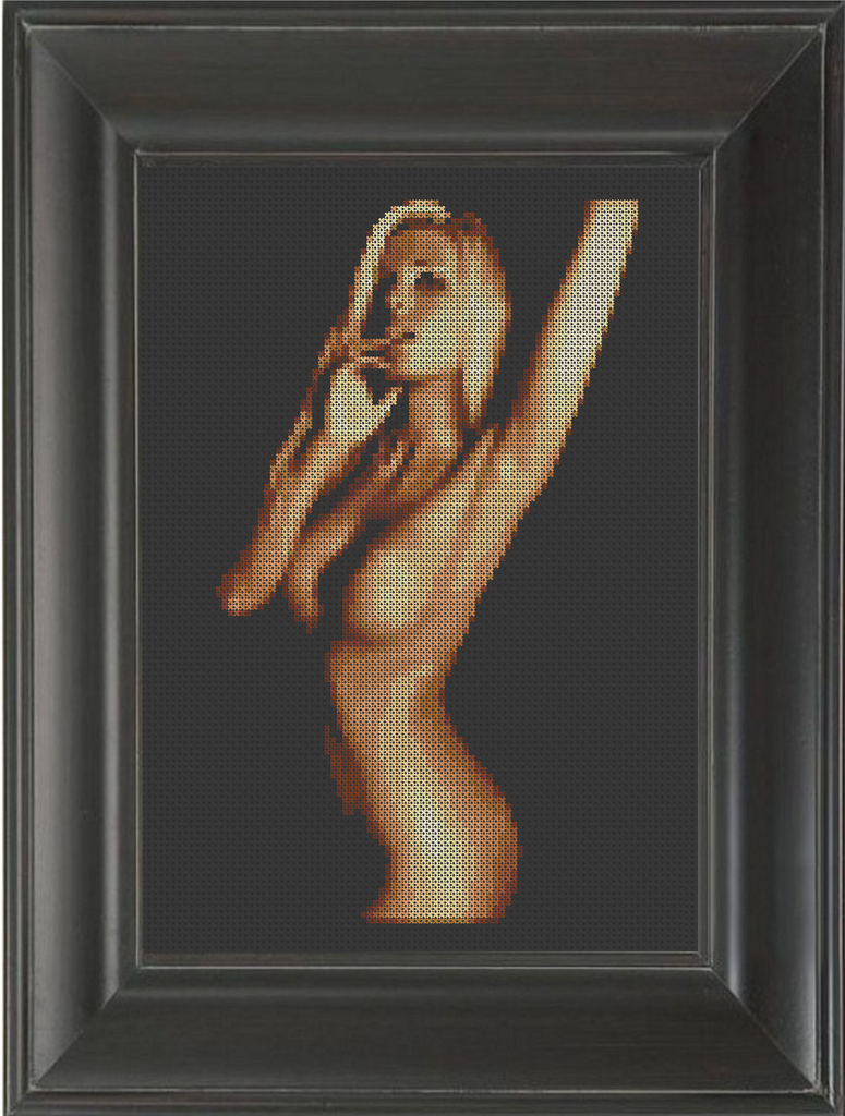 Shaquem - Cross Stitch Pattern Chart Erotic Nude Sexy NSFW