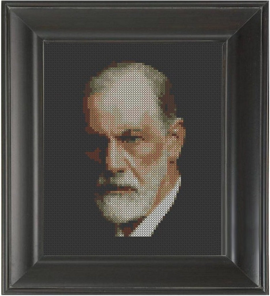 Sigmund Freud - Cross Stitch Pattern Chart