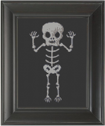 Skeleton Child - Cross Stitch Pattern Chart