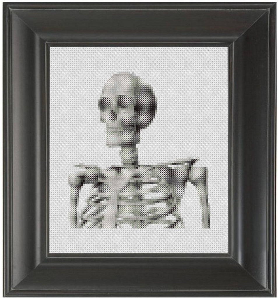 Skeleton - Cross Stitch Pattern Chart