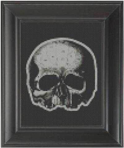 Skull Half - Cross Stitch Pattern Chart