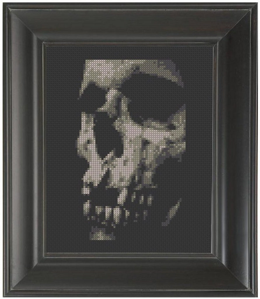 Skull Close Up - Cross Stitch Pattern Chart