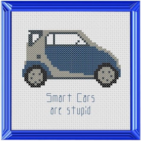 Smart Cars - Cross Stitch Pattern Chart