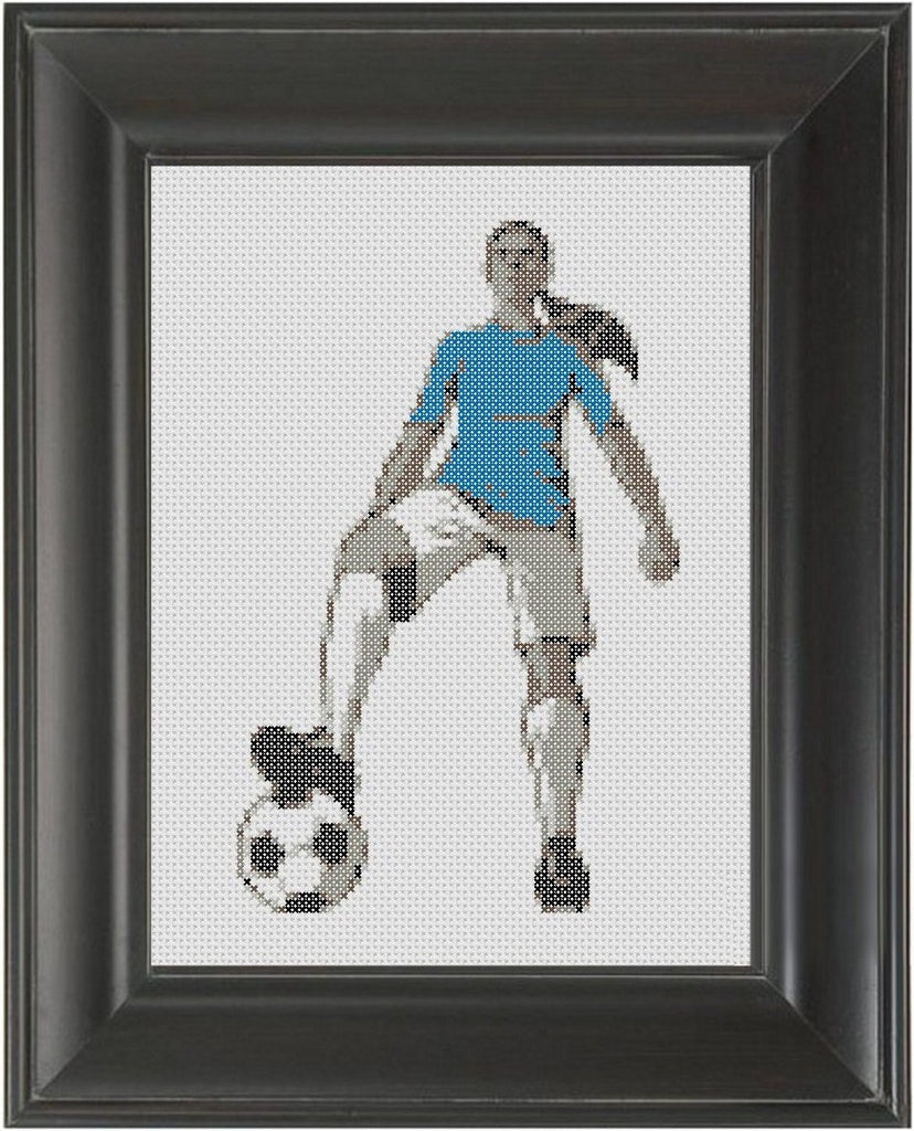 Soccer Girl - Cross Stitch Pattern Chart